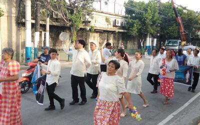 Danse karakol 2019 – En l'honneur de Notre Dame de la médaille miraculeuse (Philippines)