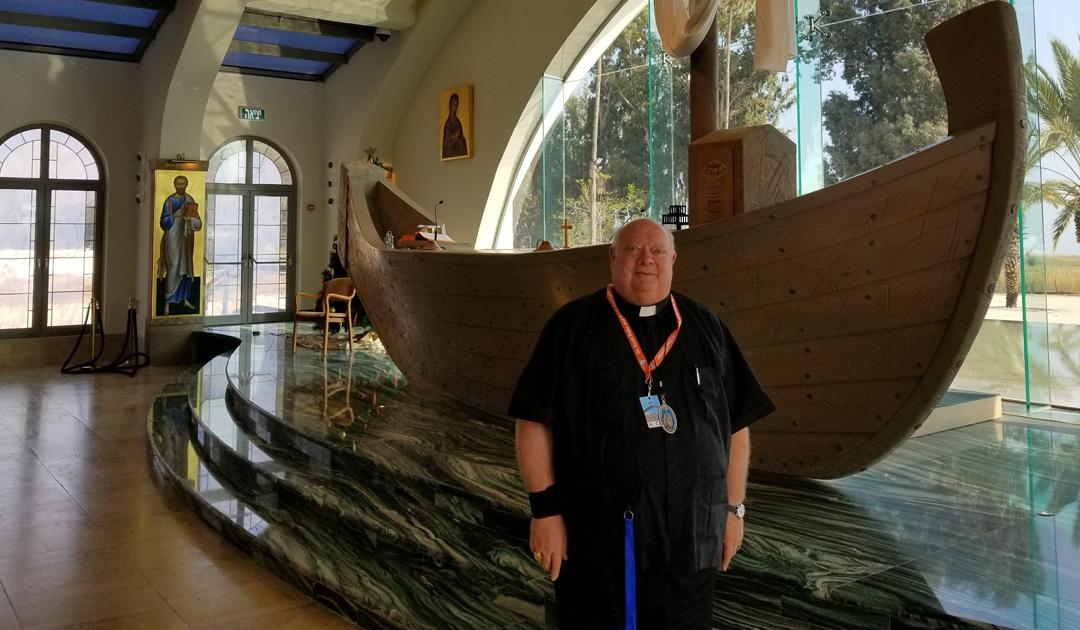Apresentação de slides da Terra Santa pelo Padre Pieber